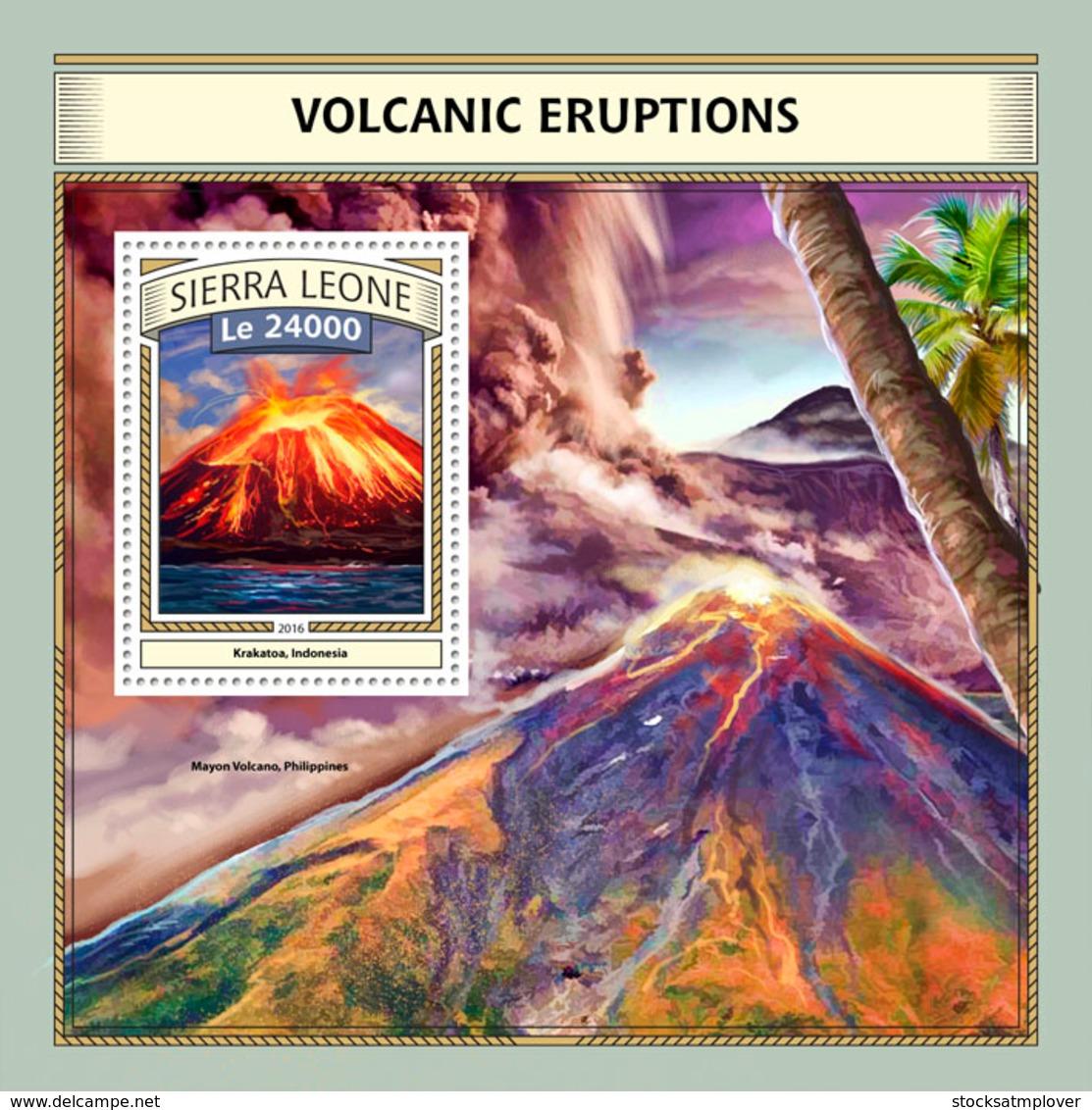 Sierra  Leone  2016  Volcanic Eruptions - Sierra Leone (1961-...)
