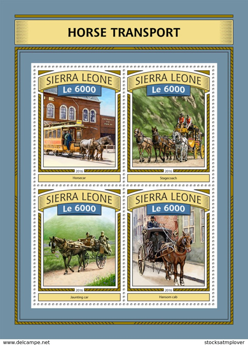 Sierra  Leone  2016  Carriage ,Horse Transport - Sierra Leone (1961-...)