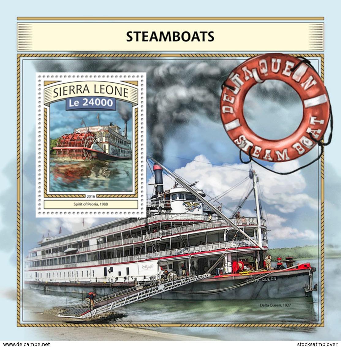 Sierra  Leone  2016 Steamboats - Sierra Leone (1961-...)