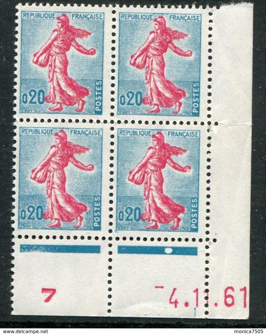 FRANCE ( COINS DATES ) : Y&T N°  1233  COIN  DATE  DU  04/11/61  TIMBRES  NEUFS  SANS  TRACE  DE  CHARNIERE . - Coins Datés