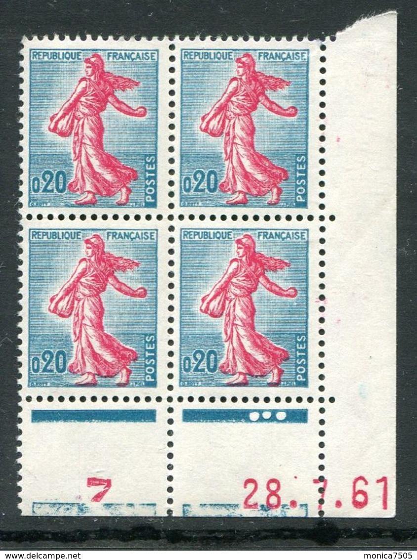 FRANCE ( COINS DATES ) : Y&T N°  1233  COIN  DATE  DU  28/07/61  TIMBRES  NEUFS  SANS  TRACE  DE  CHARNIERE . - Coins Datés