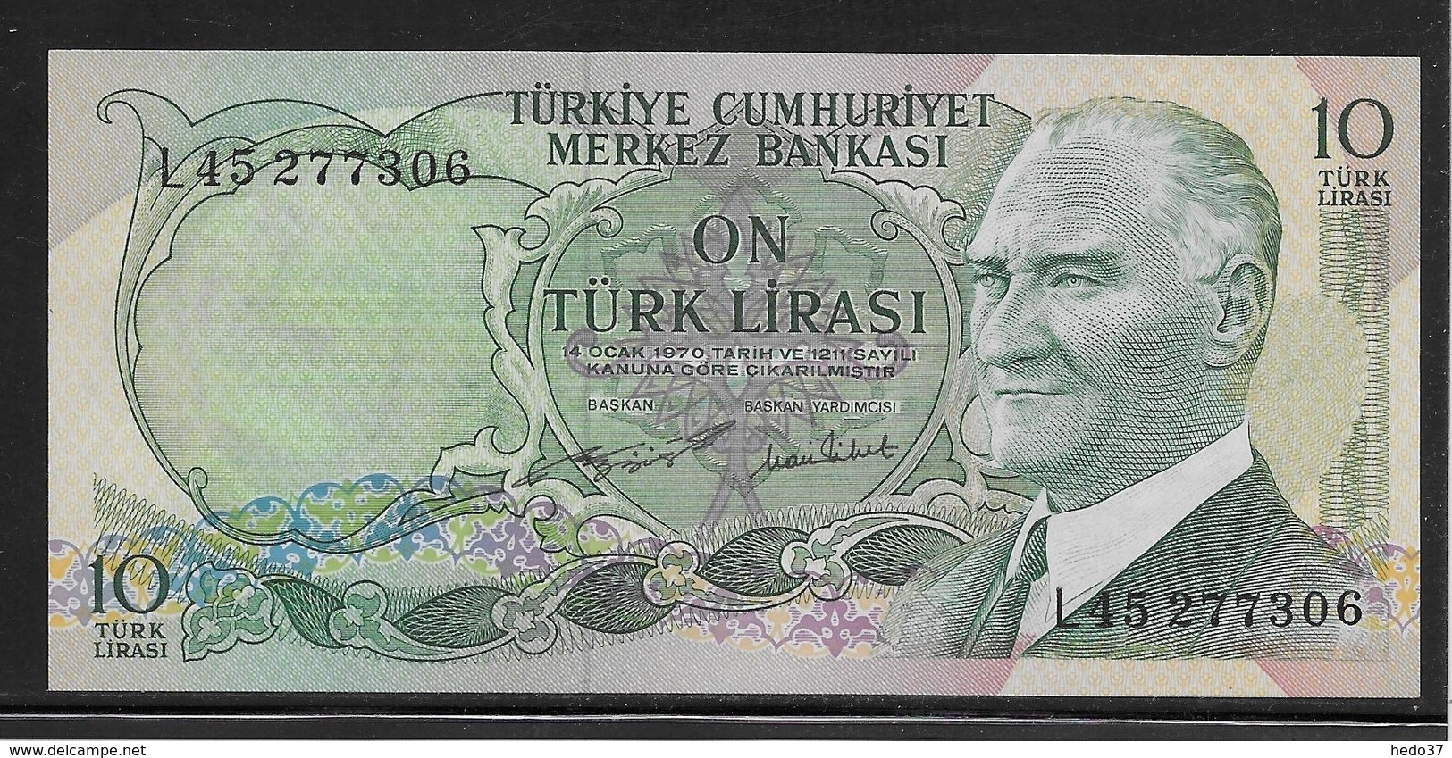 Turquie - 10 Lira - Pick N°186 - NEUF - Turchia