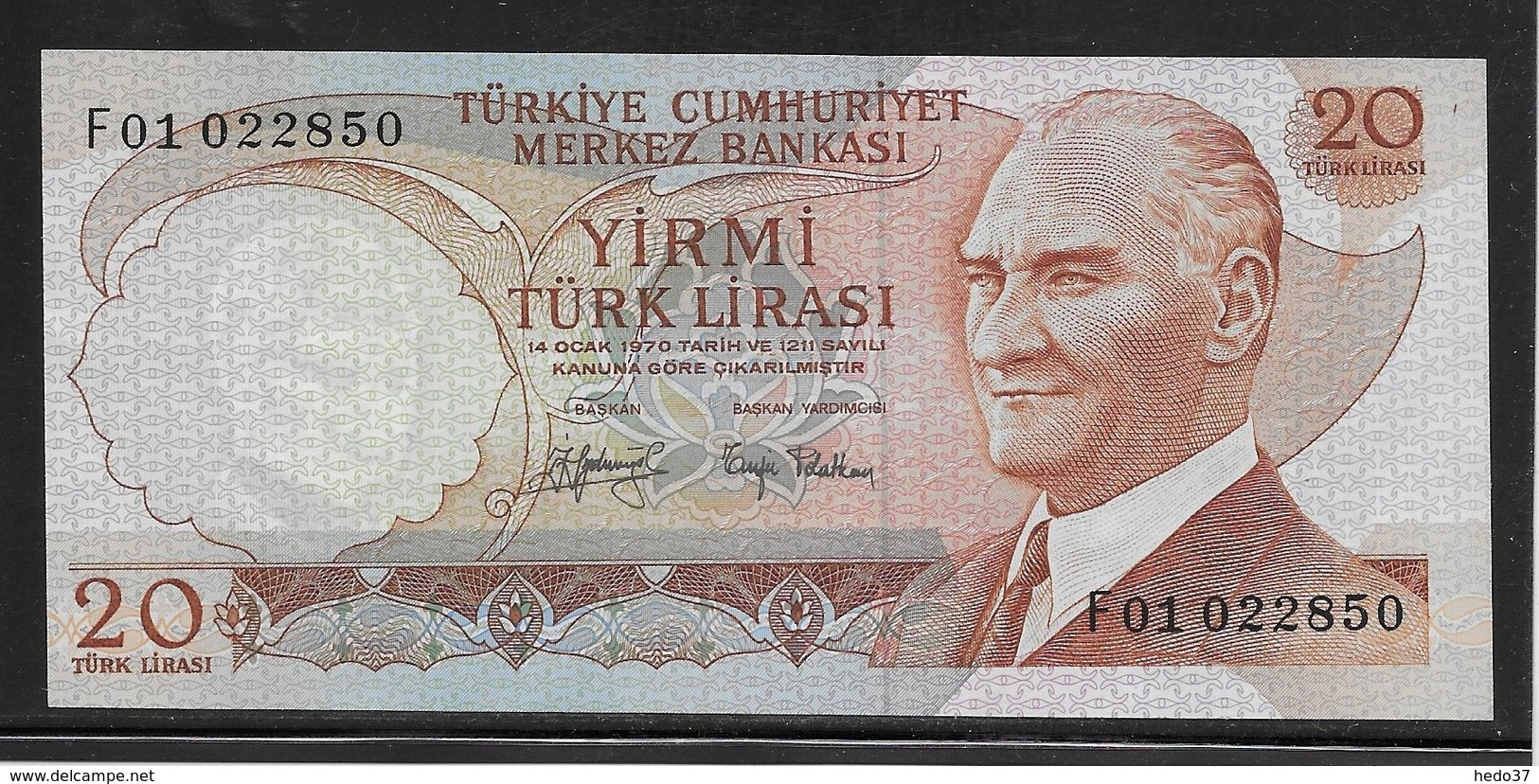 Turquie - 20 Lira - Pick N°187a - NEUF - Turchia