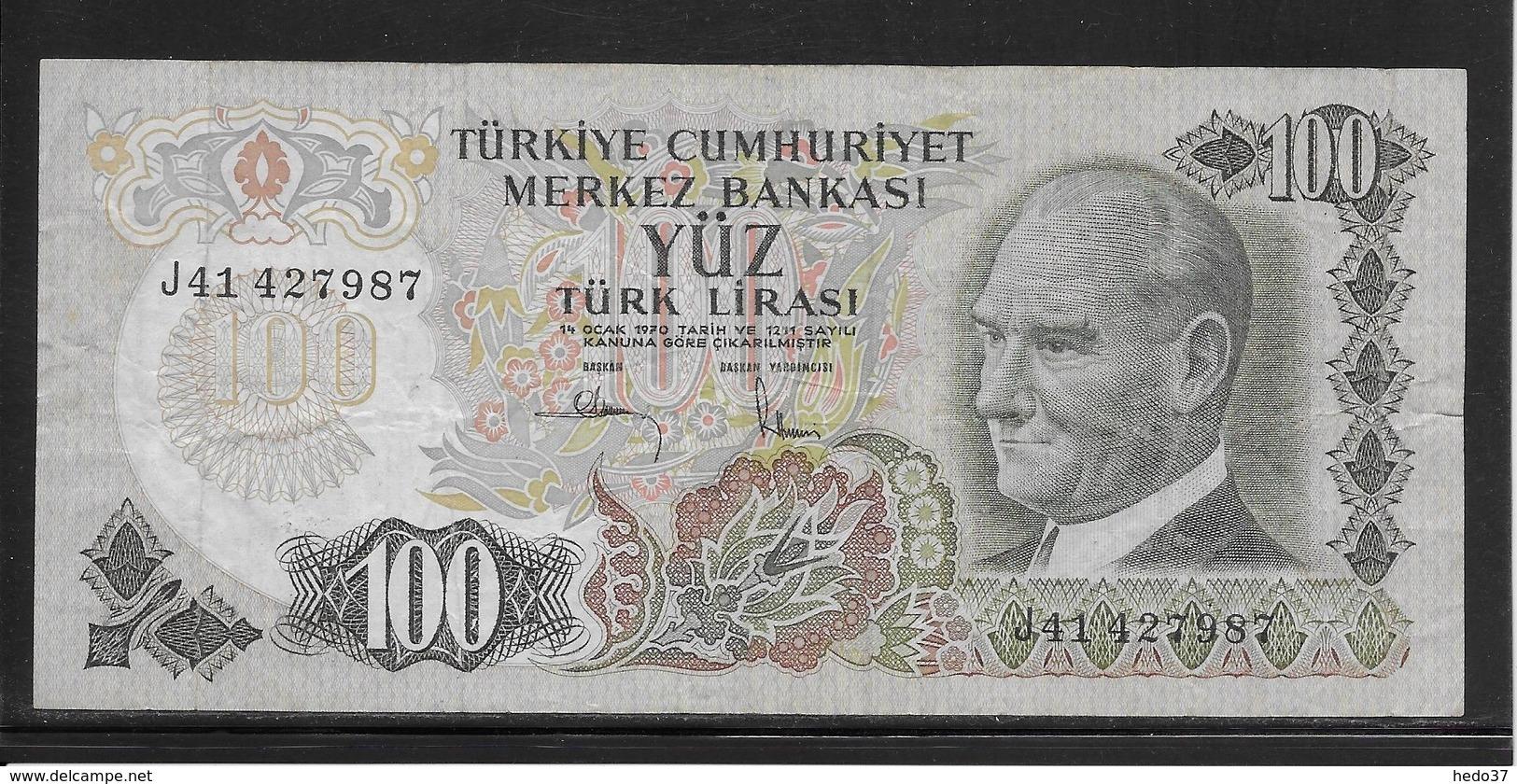 Turquie - 100 Lira - Pick N°189 - TB - Turchia