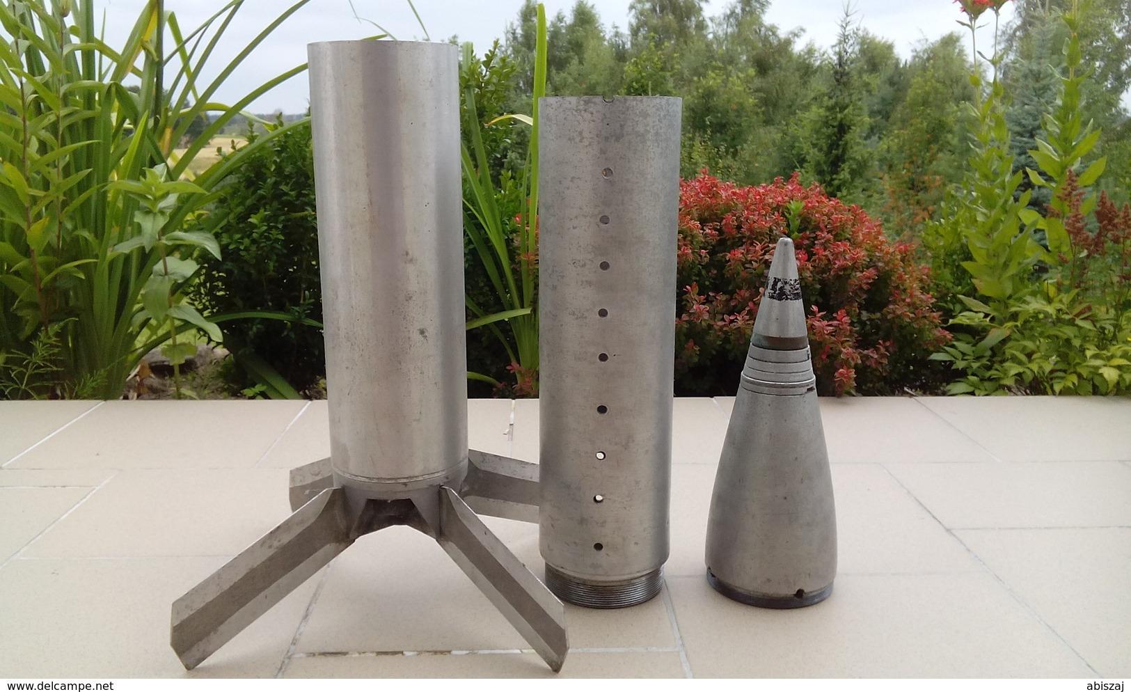 FLG-5000 Rocket Launcher Neutralisé...  Zunden Fusee Projektil Obus Grenade - Armes Neutralisées