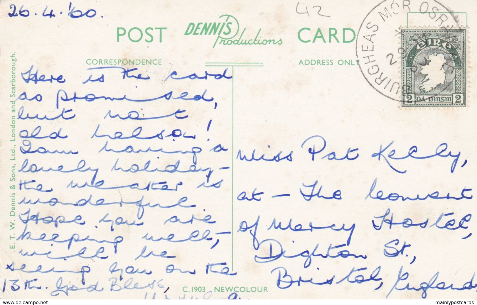 AM36 The Pool Gorm, Glengarriff, Co. Cork, 1960's Postcard - Cork