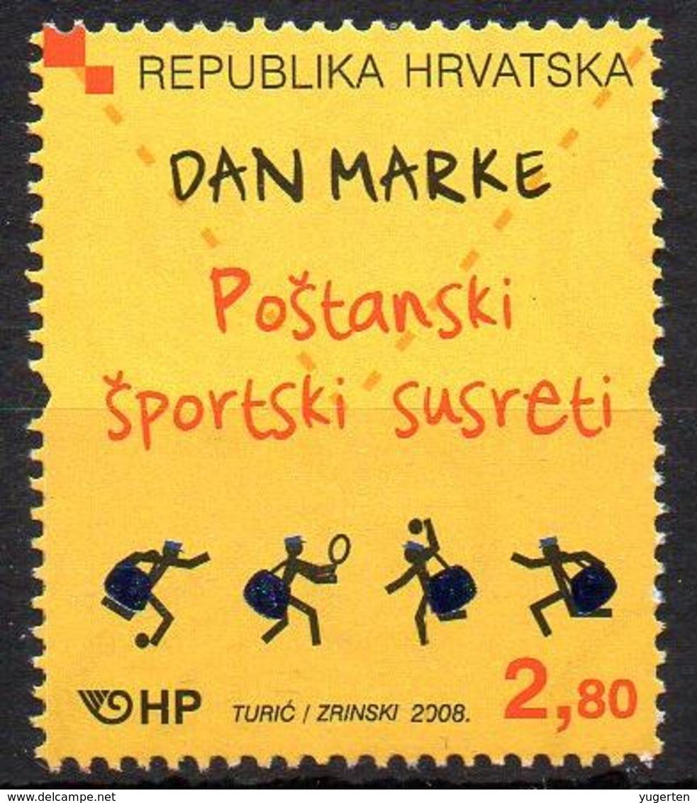 CROATIA 2008 - 1v - MNH - Stamp Day Post - Sport Meetings Fußball - Tennis Handball Football Fútbol - Tenis - Balonmano - Día Del Sello