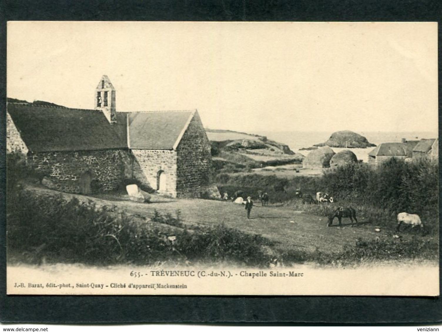 CPA - TREVENEUC - Chapelle Saint-Marc, Animé - France