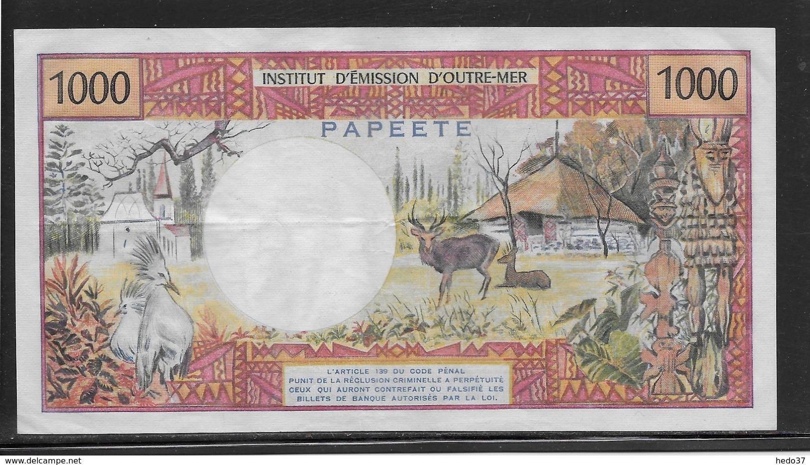 Tahiti - 1000 Francs - Pick N°27d - SUP - Banknotes