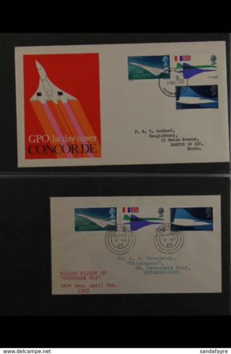 CONCORDE COVERS COLLECTION 1969-2010 Collection Of Illustrated First Day Or Commemorative Covers In An Album, Mostly Gre - Stamps