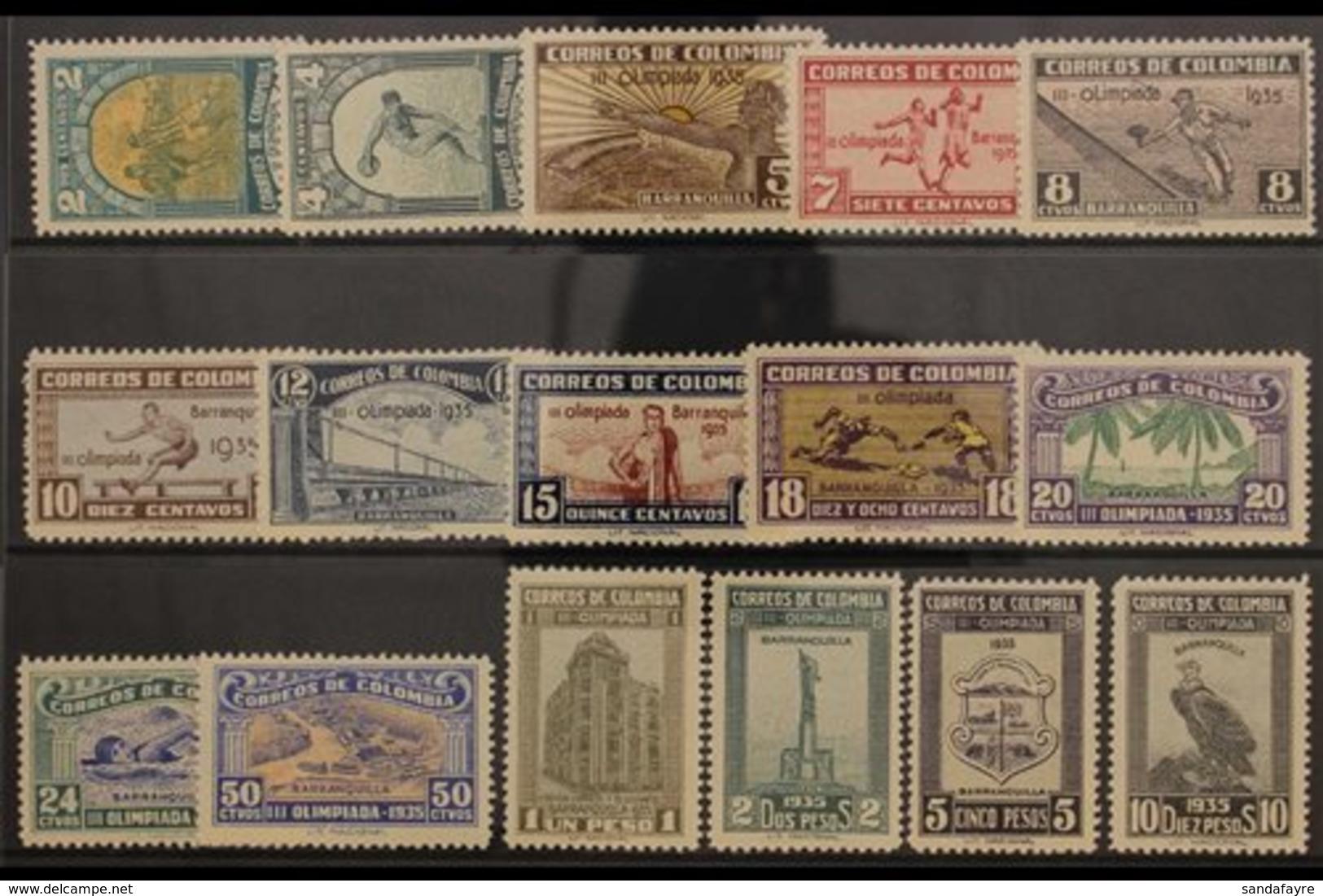1935 OLYMPIC GAMES SET Third National Olympiad / Sports Set Complete, SG 461/476 (Scott 421/36), A Seldom Seen Very Fine - Kolumbien