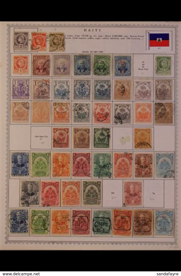 1880's - 1980's ALL DIFFERENT COLLECTION. An Extensive,ALL DIFFERENT Mint & Used Collection On Printed Pages, Many Comp - Haiti