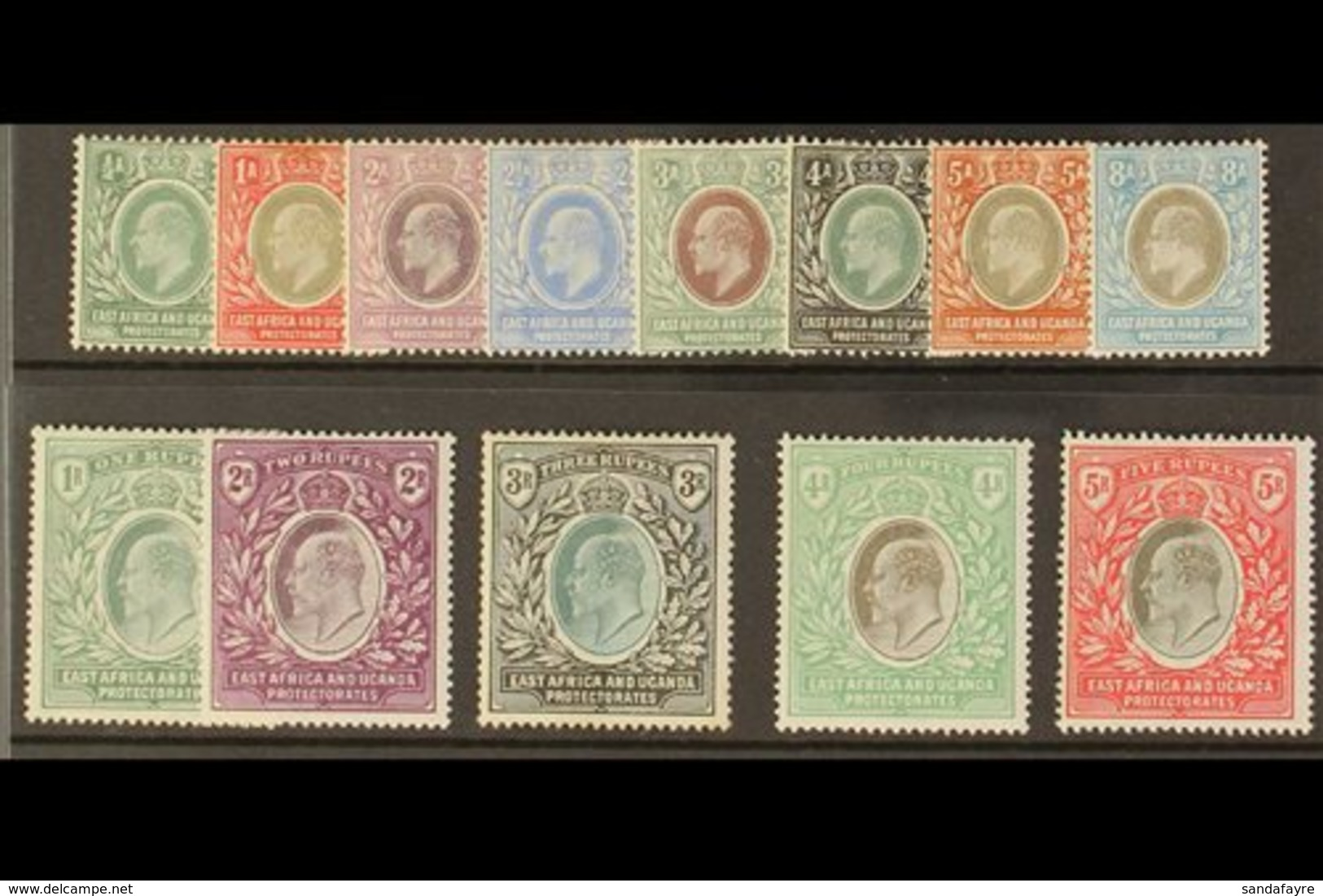 1903 - 04 Ed VII Set Complete To 5r, Wmk CA, SG 1-13, Very Fine And Fresh Mint. (13 Stamps) For More Images, Please Visi - Vide