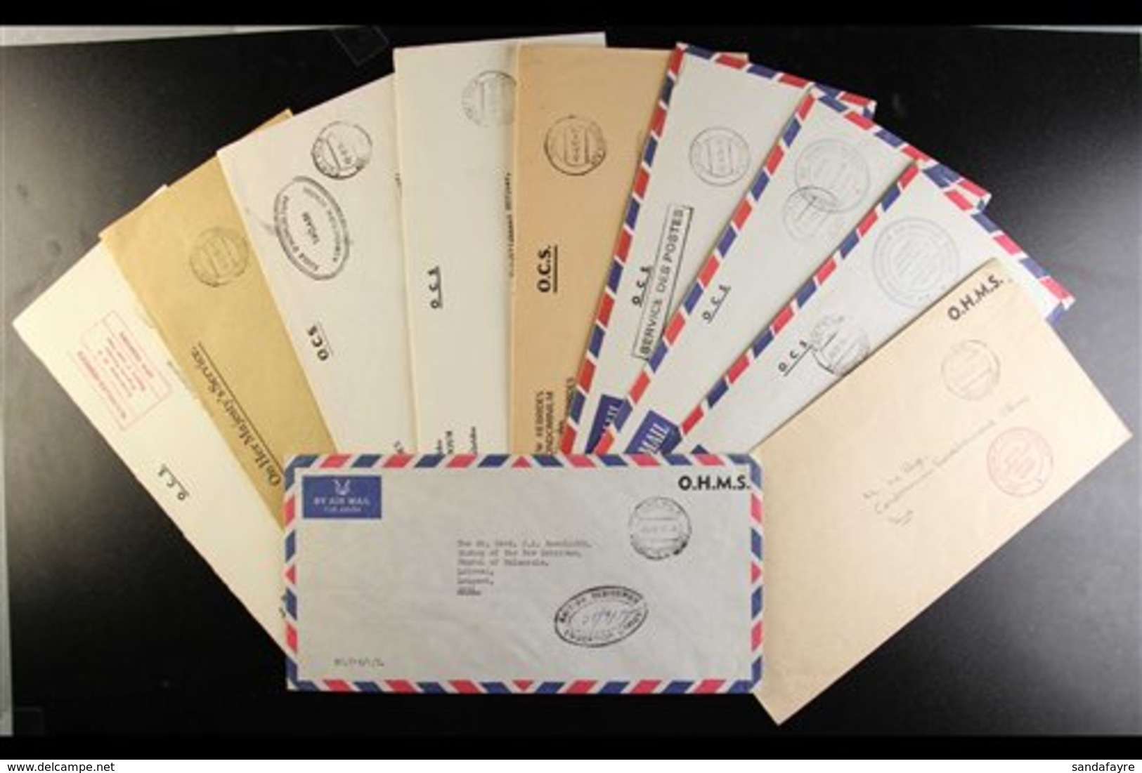 OFFICIAL MAIL Addressed To Various Officials And The Bishop Of The New Hebrides, We See Range Of Internal Official Mail  - Non Classés