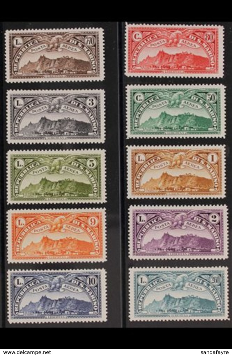 1931 Air Complete Set (Sassone 1/10, SG 164/73), Fine Mint, Very Fresh. (10 Stamps) For More Images, Please Visit Http:/ - San Marino