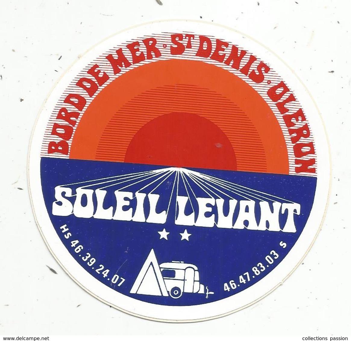 Autocollant , CAMPING SOLEIL LEVANT , Bord De Mer ,  SAINT DENIS ,  OLERON - Autocollants