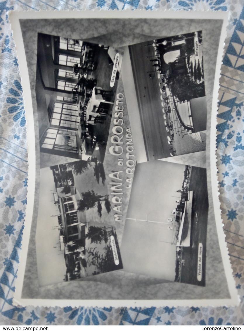 Marina Di Grosseto La Rotonda VIAGGIATA 1955 - Italia