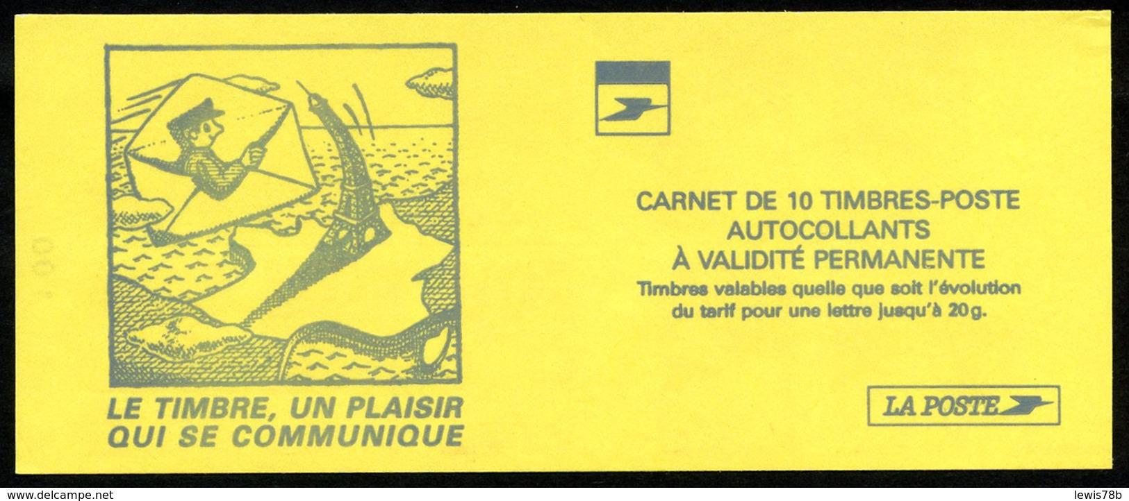 Carnet LUQUET - La Poste - Type 1 - Carré Noir + RE - RRR - Lot 04 - Markenheftchen
