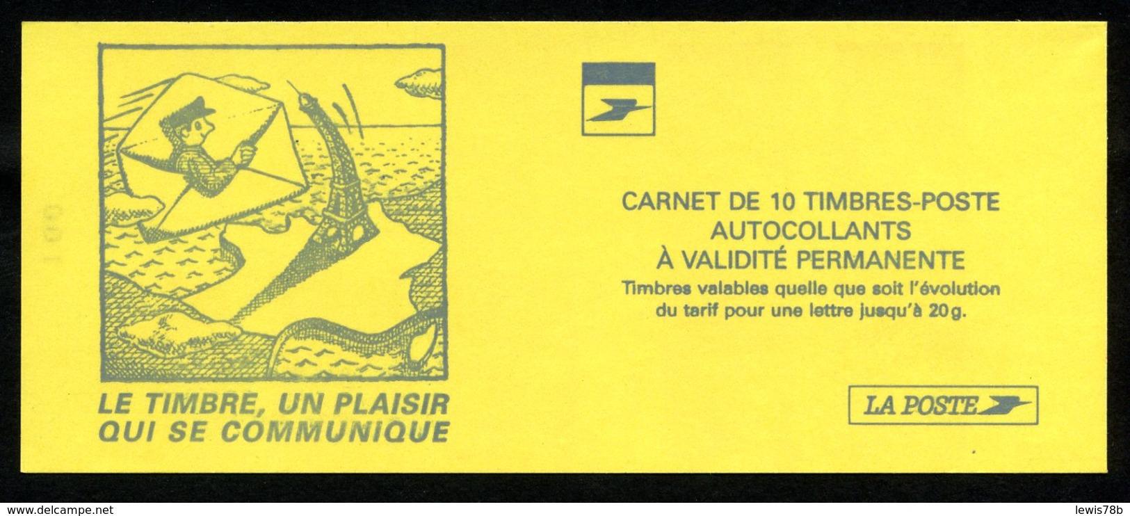 Carnet LUQUET - La Poste - Type 2 - Carré Noir + RE - RRR - Lot 05 - Booklets