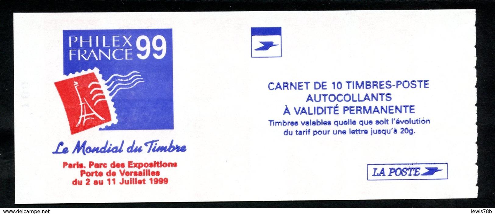 Carnet LUQUET - La Poste - Type 1 - Carré Noir + RE - RRR - Lot 06 - Freimarke