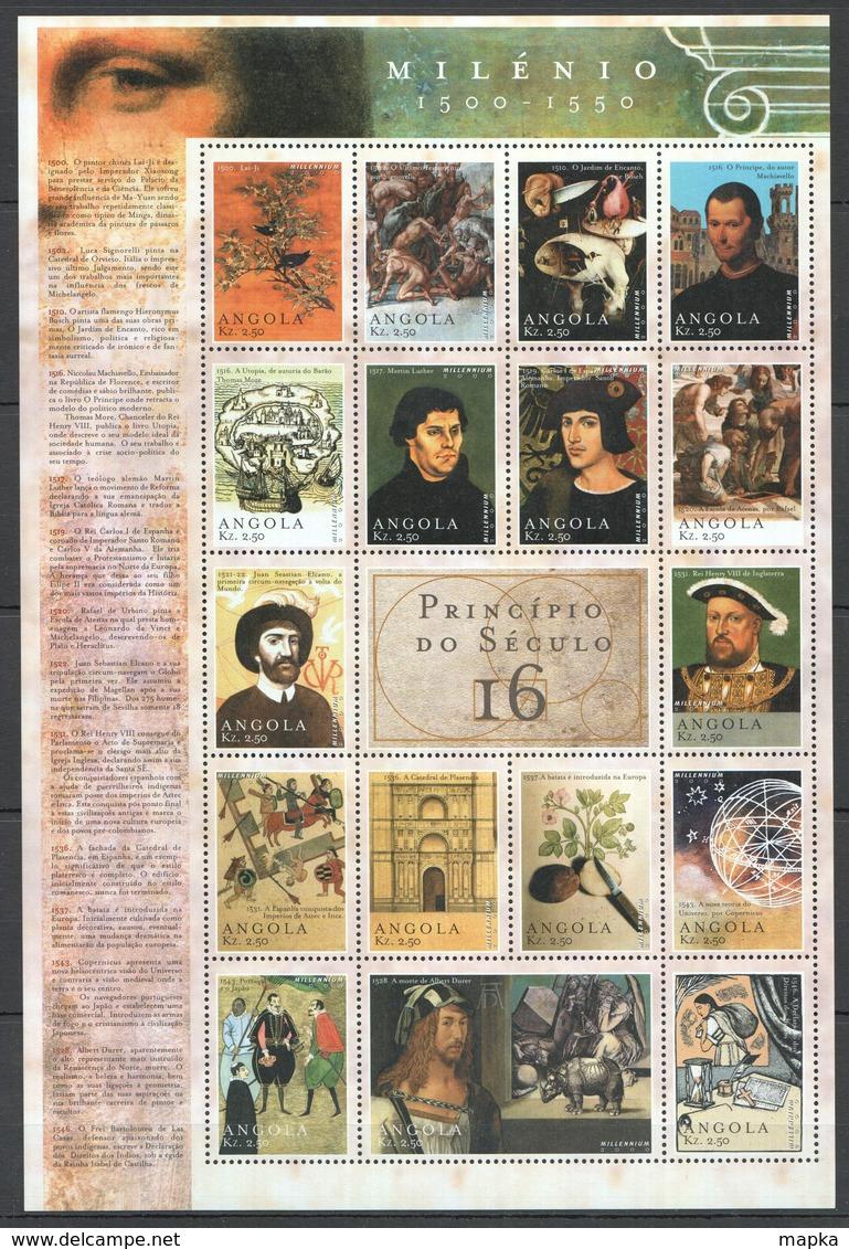 V634 ANGOLA MILLENNIUM 1500-1550 16TH CENTURY 1SH MNH - History