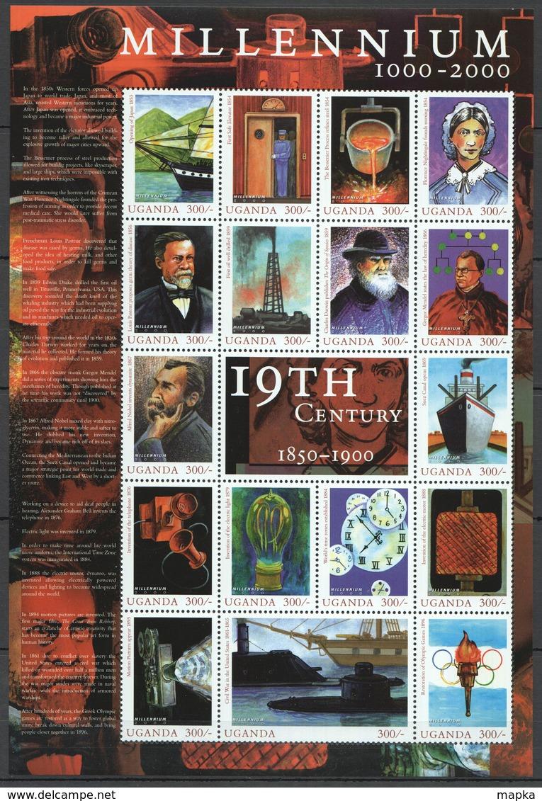 V656 UGANDA MILLENNIUM 1000-2000 19TH CENTURY 1850-1900 1SH MNH - History