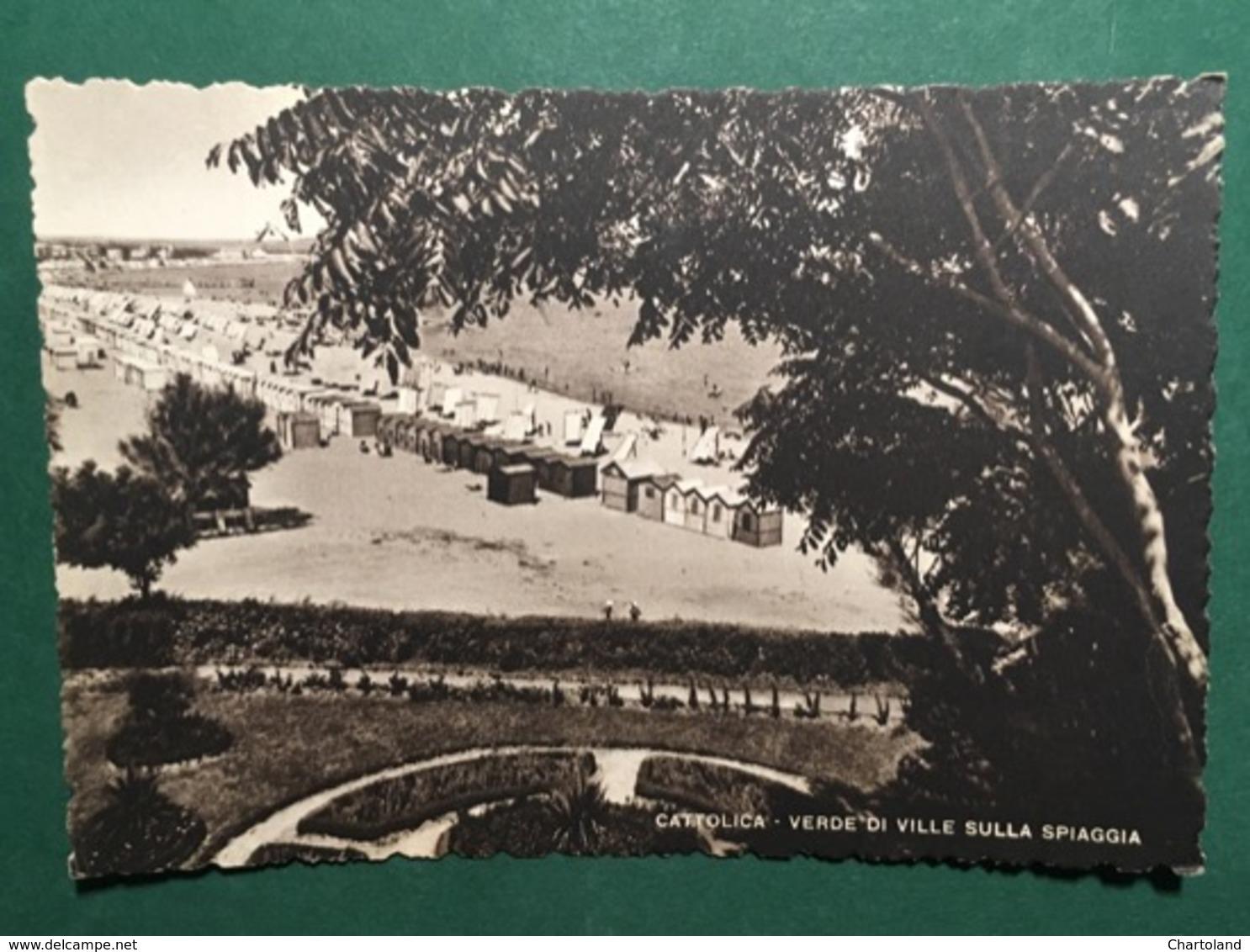 Cartolina Cattolica - Verde Di Ville Sulla Spiaggia - 1952 - Rimini