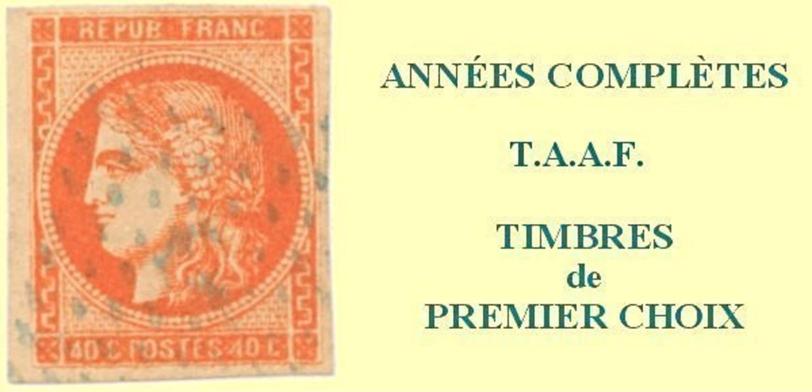 TAAF, Année Complète 1980**, Poste N°86 à N°91, P.A. N°61 à N°64 Y & T - Komplette Jahrgänge
