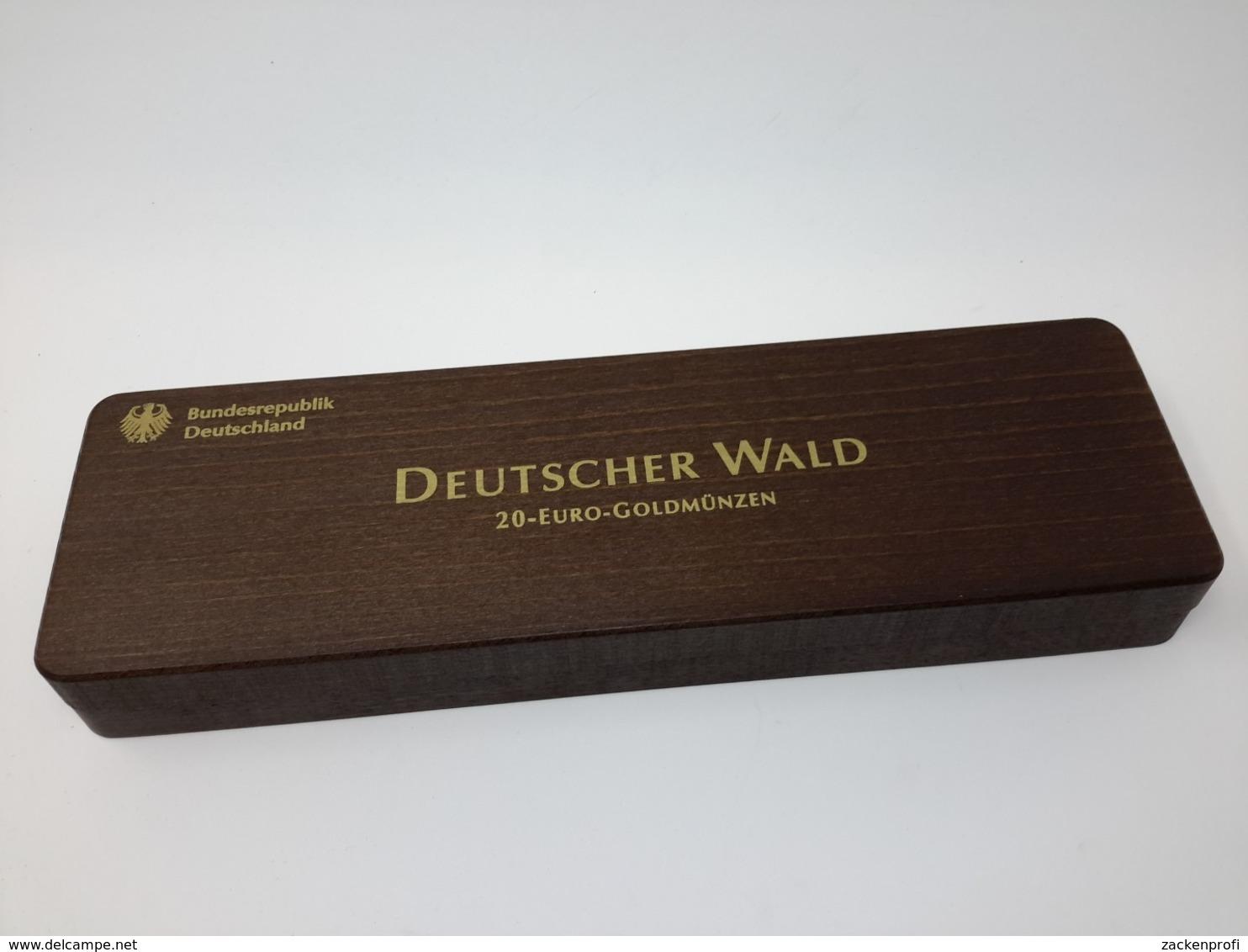 HOLZ Münzkassette Für 20 EURO WALD Goldmünzen Gebraucht Neuwertig (Z1532) - Supplies And Equipment
