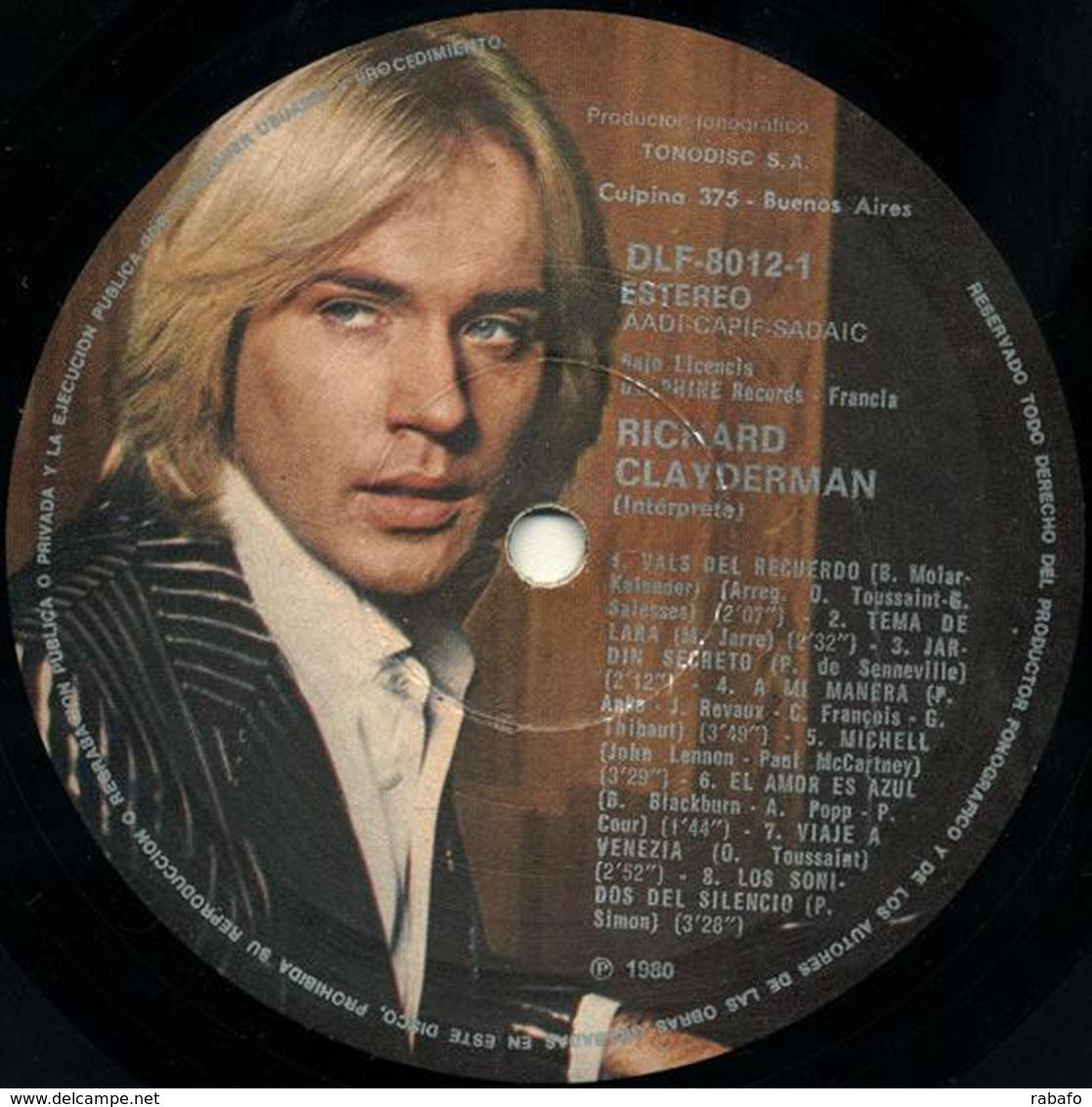 LP Argentino De Richard Clayderman Año 1980 - Instrumental