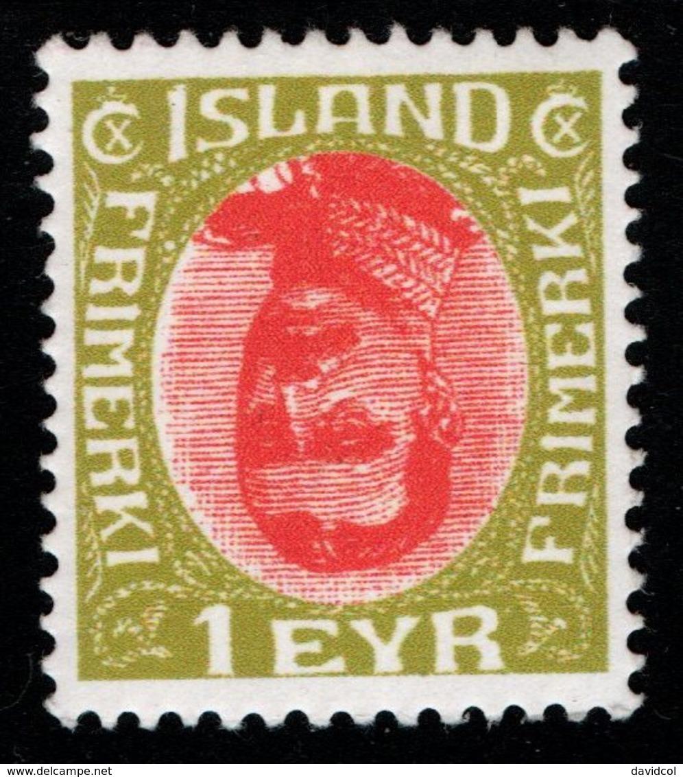 R866.-. ICELAND - 1920 - SC#: 108 - MINT- INVERTED CENTER - FANTASY STAMP - 1918-1944 Unabhängige Verwaltung