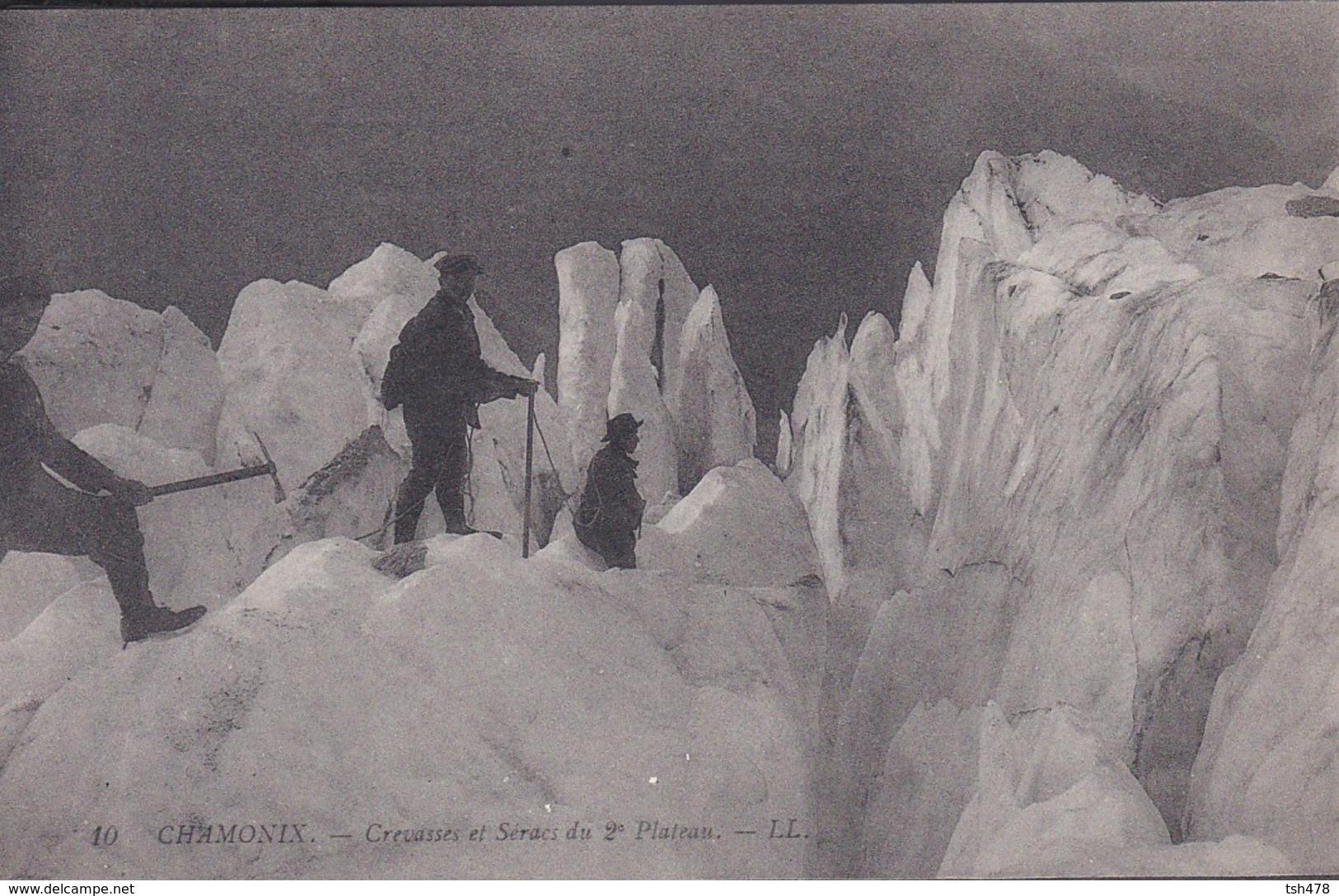 74----CHAMONIX---crevasses Et Séracs Du 2è Plateau--voir 2 Scans - Chamonix-Mont-Blanc