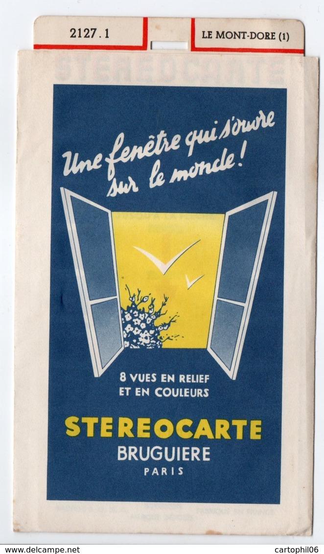 - STEREOCARTE BRUGUIERE - LE MONT-DORE - 2127.1 - - Stereoscopic