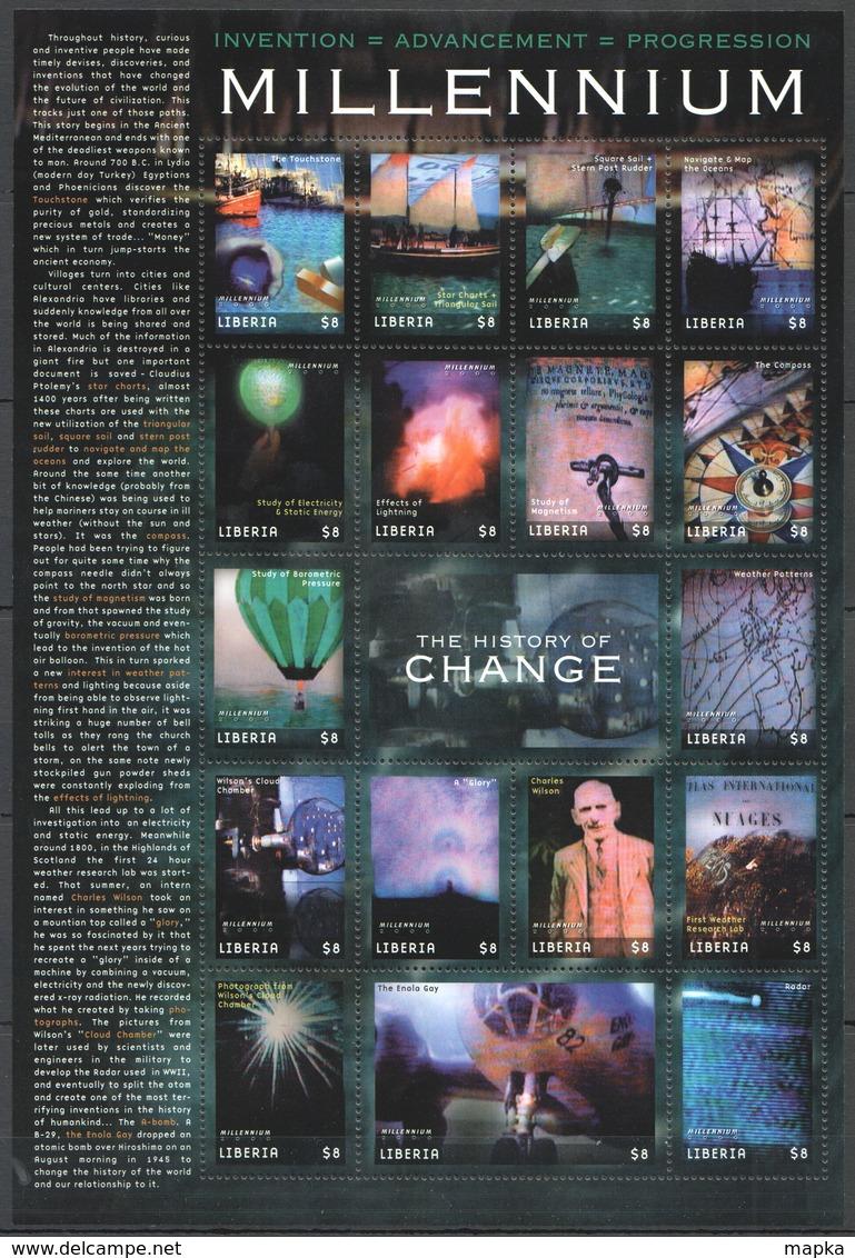 P512 LIBERIA MILLENNIUM 2000 THE HISTORY OF CHANGE 1SH MNH - History