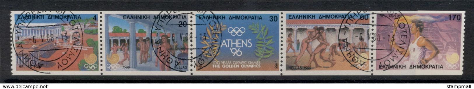 Greece 1988 Olympics Booklet Pane CTO - Griekenland