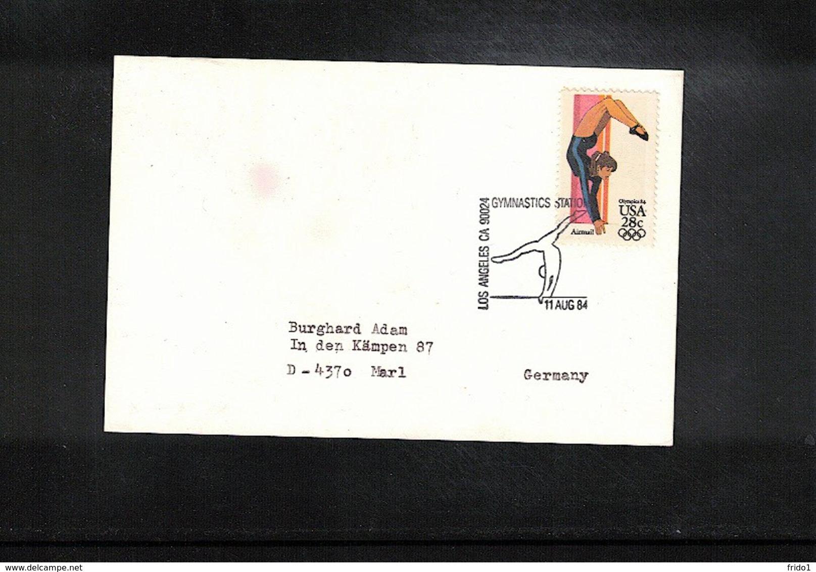 USA 1984 Olympic Games Los Angeles Gymnastics  Interesting Cover - Gymnastik