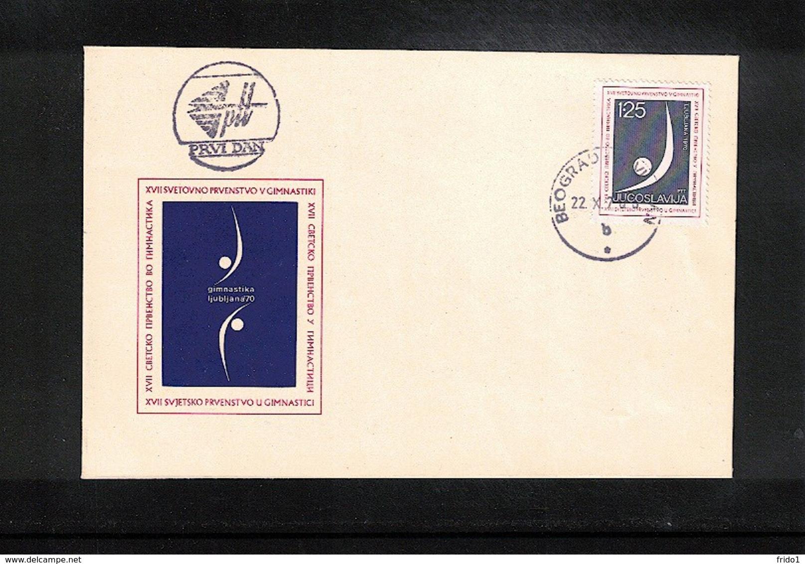 Yugoslavia / Jugoslawien 1970 Ljubljana World Gymnastics Championship Interesting Cover FDC - Gymnastik