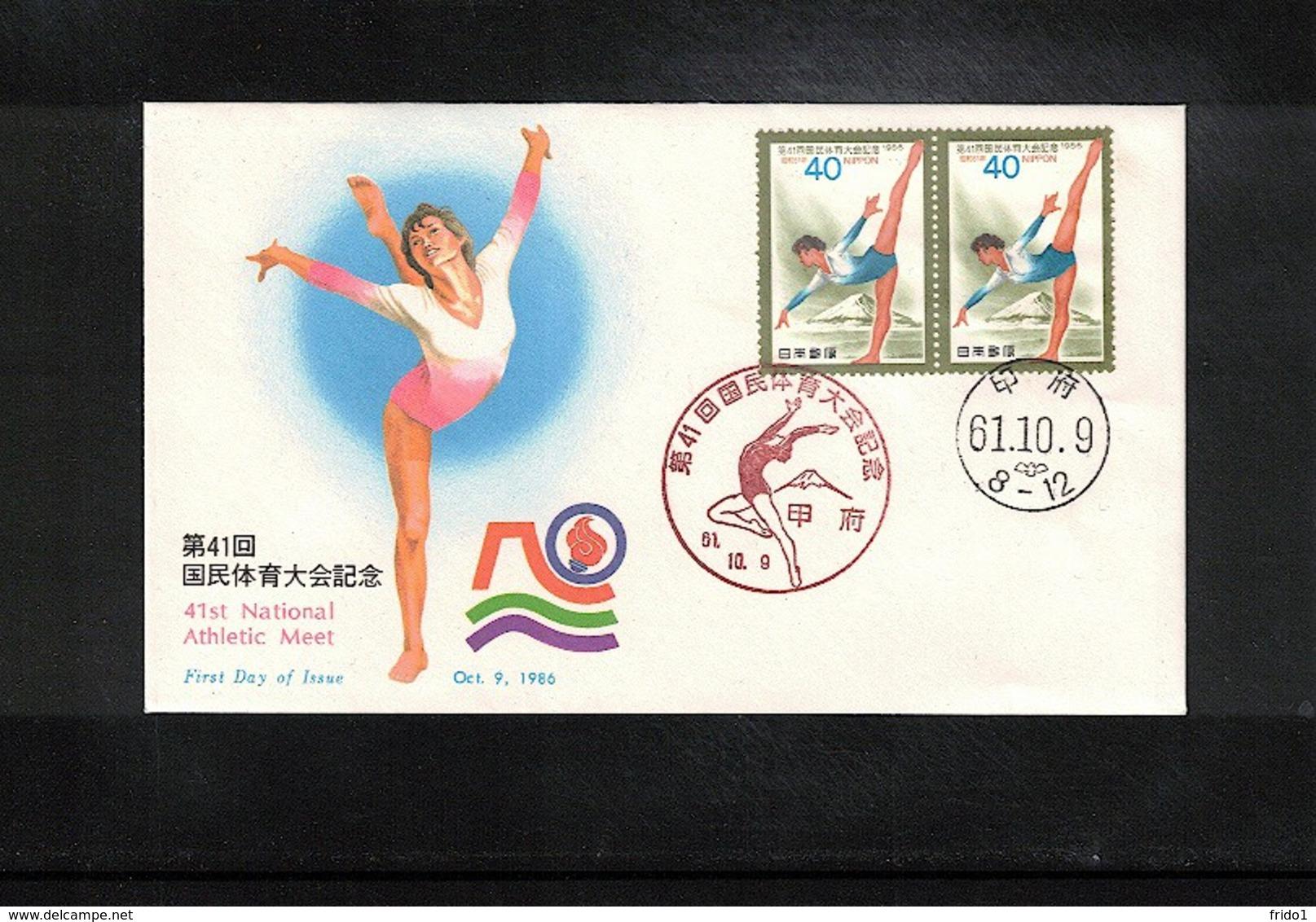 Japan 1986  Gymnastics  Interesting Cover - Gymnastik