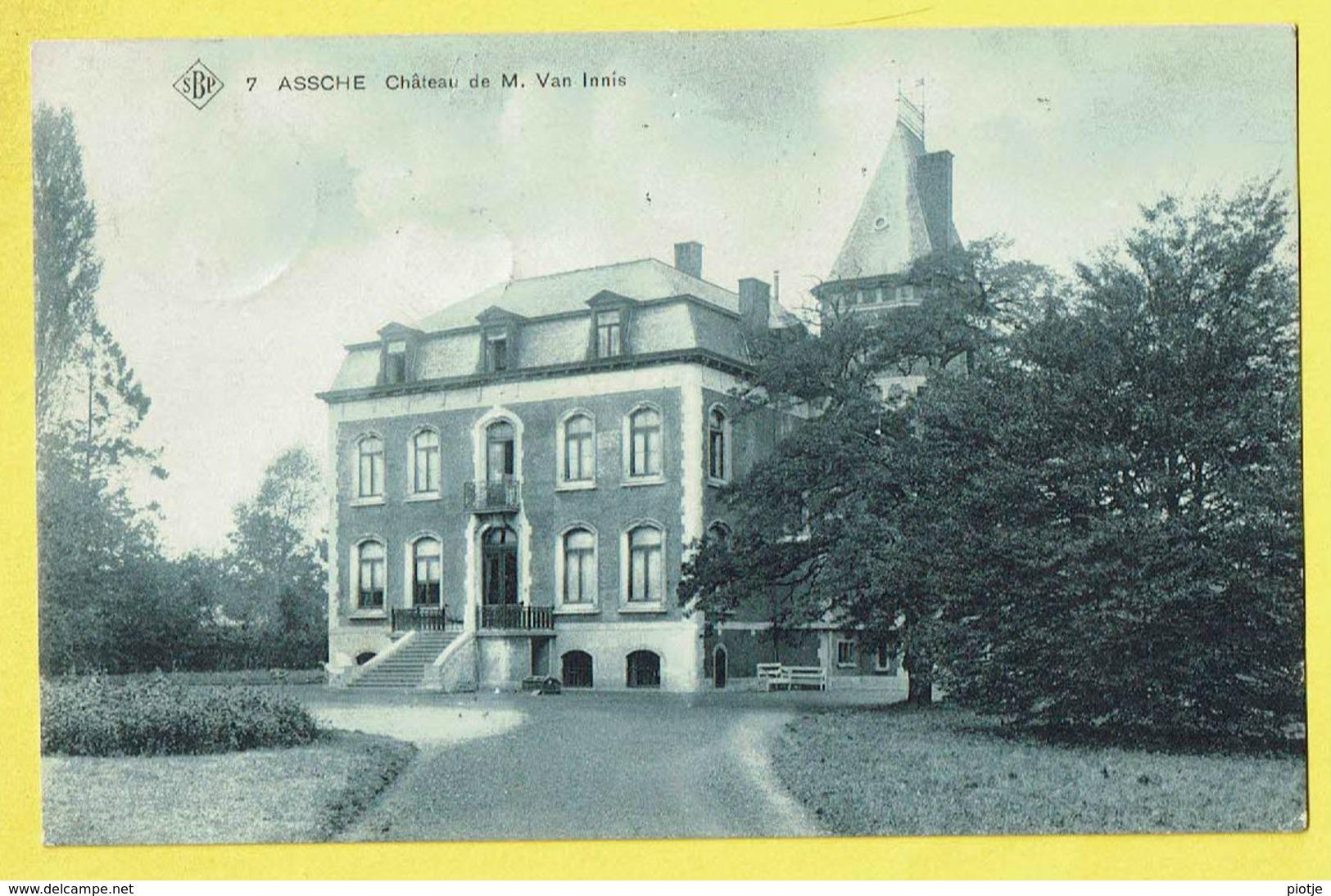 * Asse - Assche (Vlaams Brabant) * (SBP, Nr 7) Chateau De M. Van Innis, Kasteel, Schloss, Castle, TOP, Unique, Zeldzaam - Asse