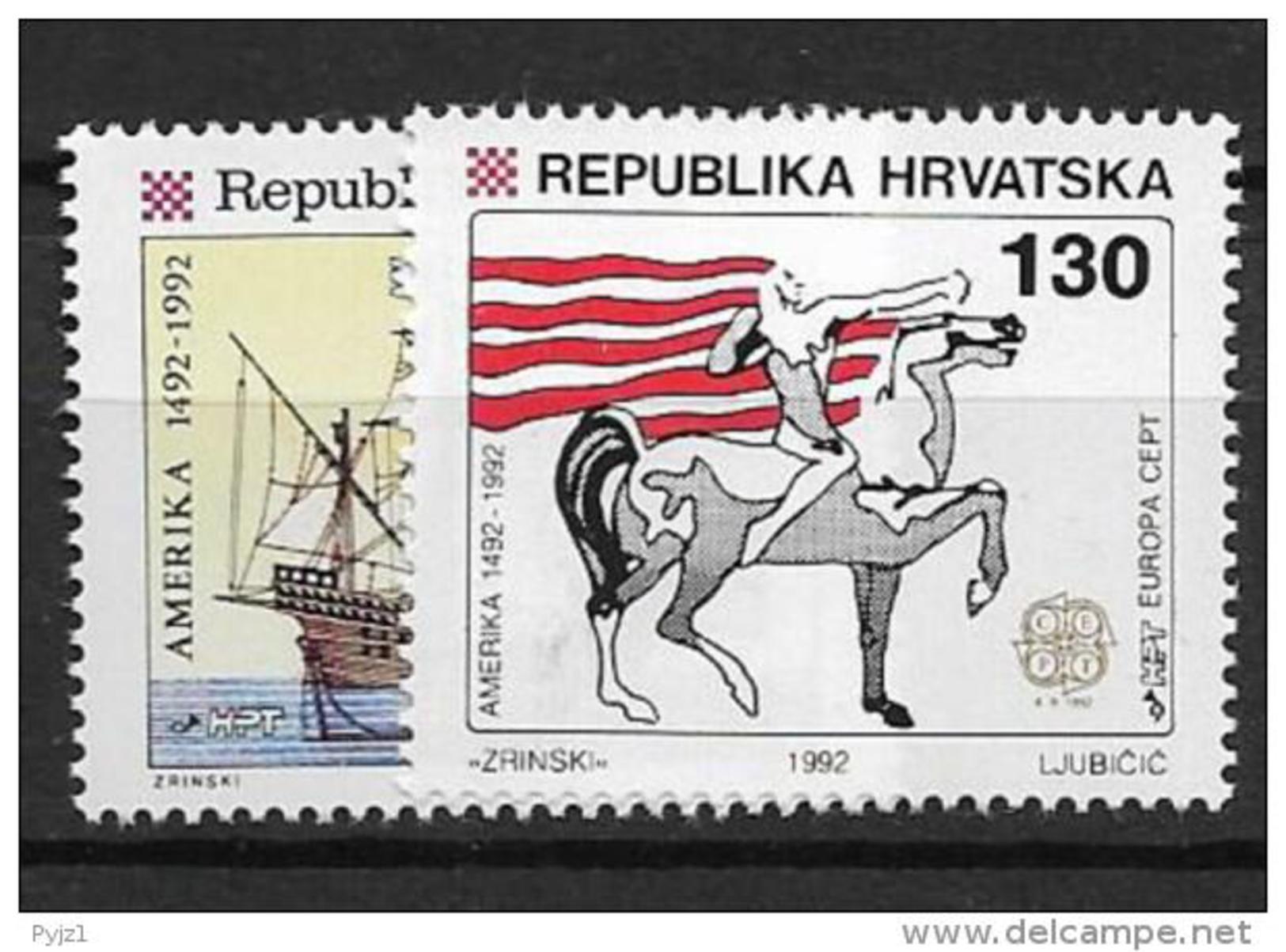1992 MNH Cept Croatia - Europa-CEPT