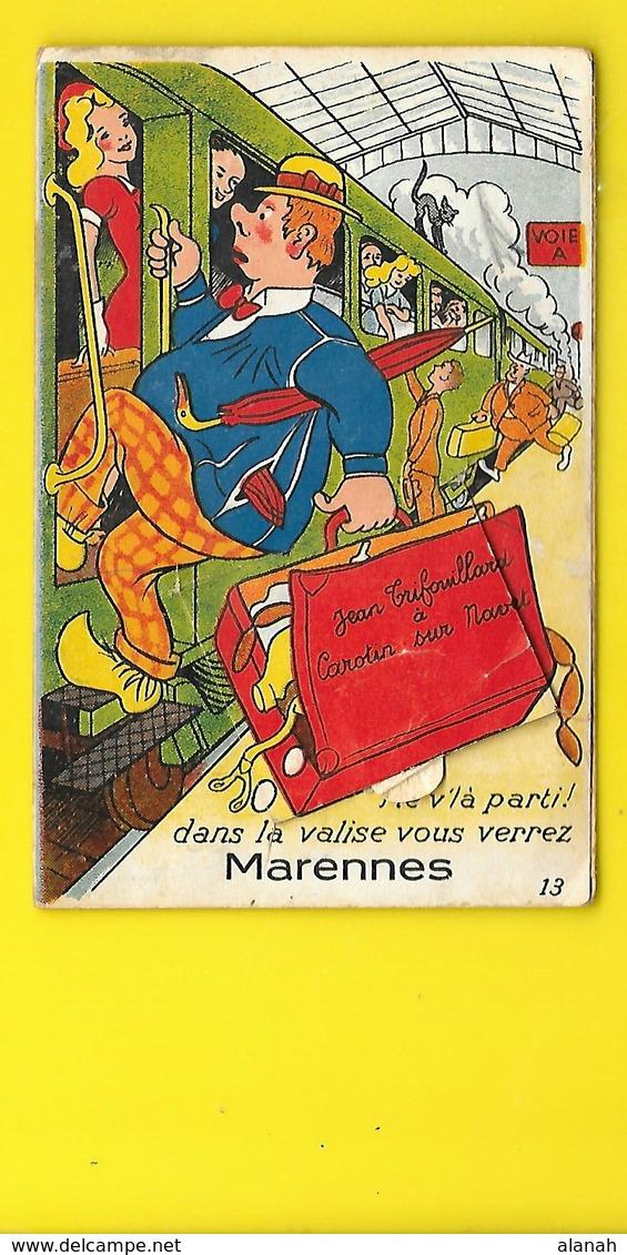 MARENNES Carte à Système Train (Gaby) Charente Maritime (17) - Marennes