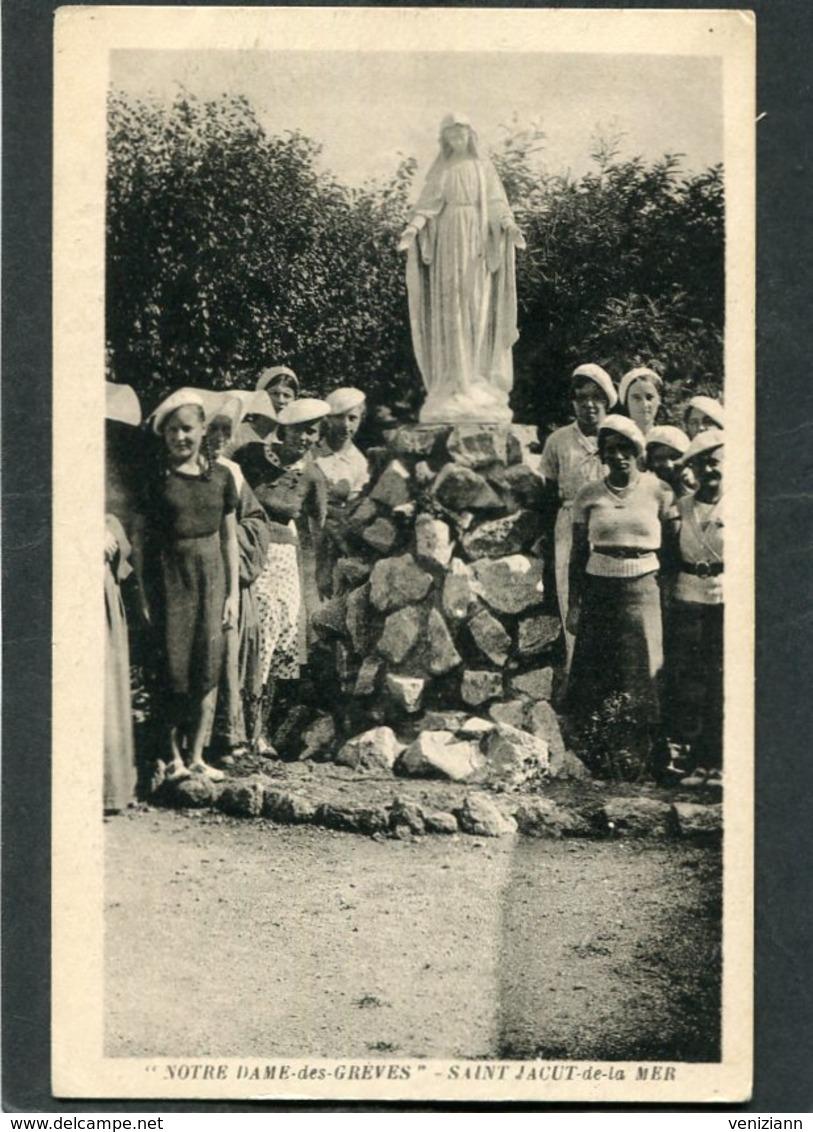 CPA - SAINT JACUT DE LA MER - Notre Dame Des Grèves, Très Animé - Saint-Jacut-de-la-Mer