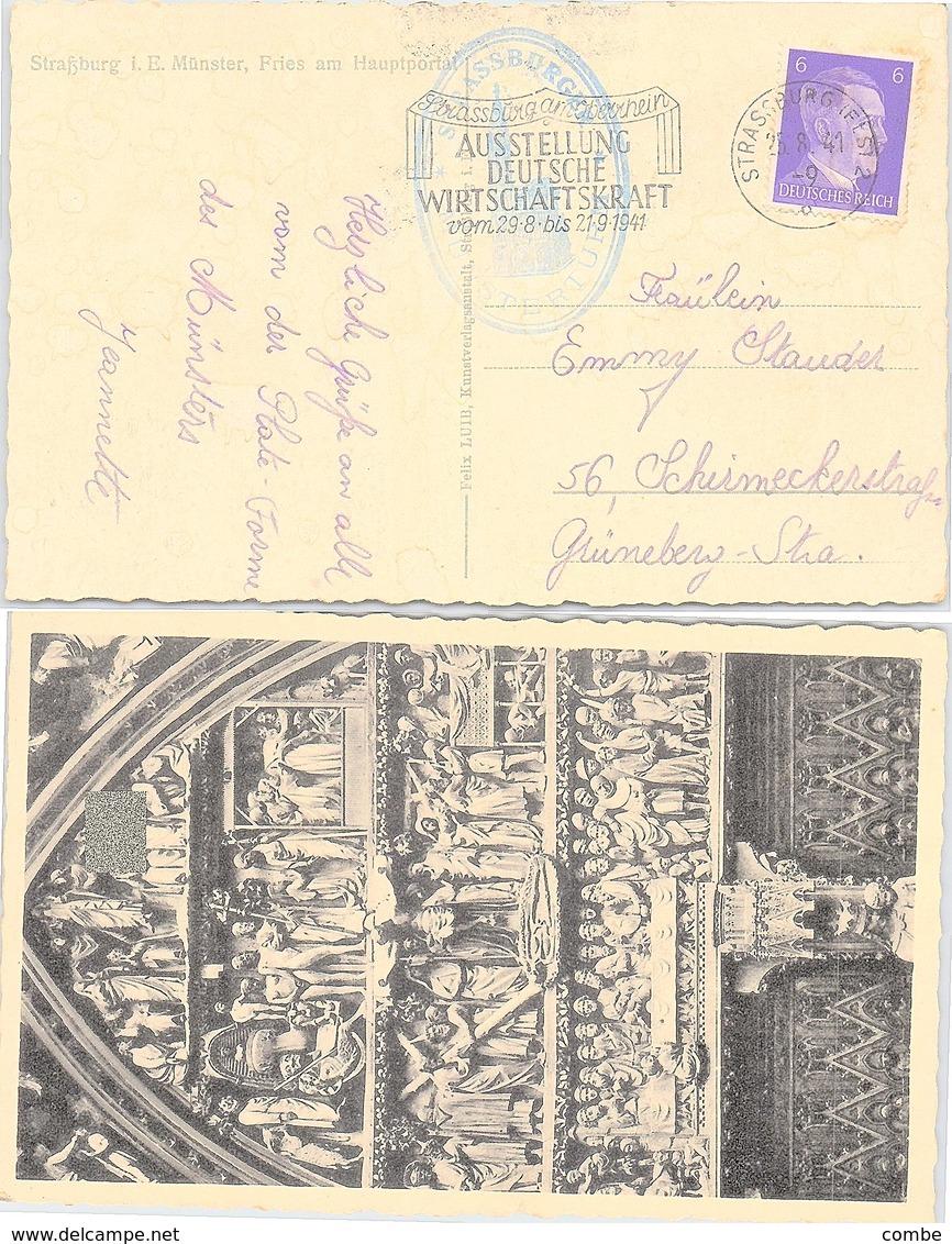 POSTKARTE 1941  ELSASS STRASSBURG - Deutschland