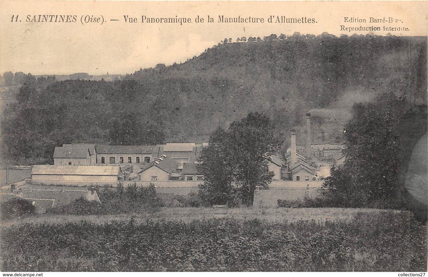 60-SAINTINES- VUE PANORAMIQUE DE LA MANUFACTURE D'ALLUMETTES - France