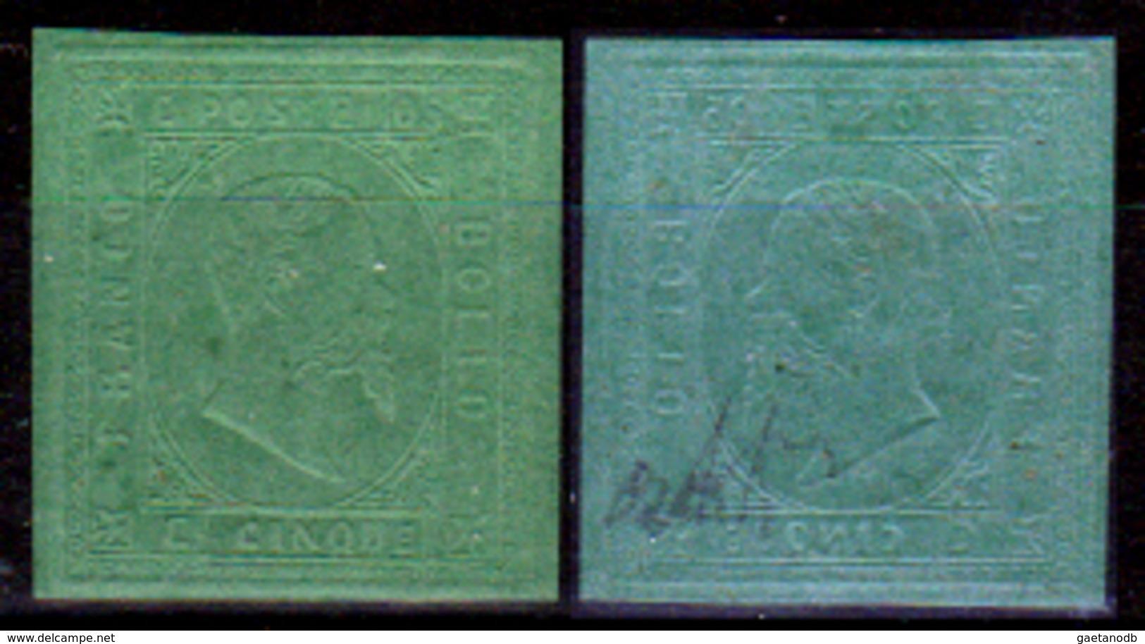 Sardegna-112 - Emissione 1853: Sassone N. 4 (+) LH - Senza Difetti Occulti. - Sardegna