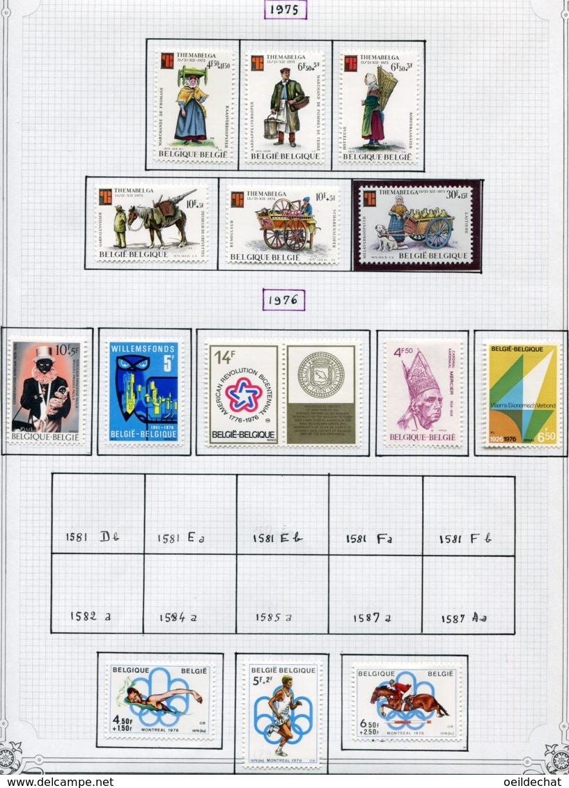 13769 BELGIQUE Collection Vendue Par Page N°1784 à 1797   */**  1975-76  TB/TTB - Belgium