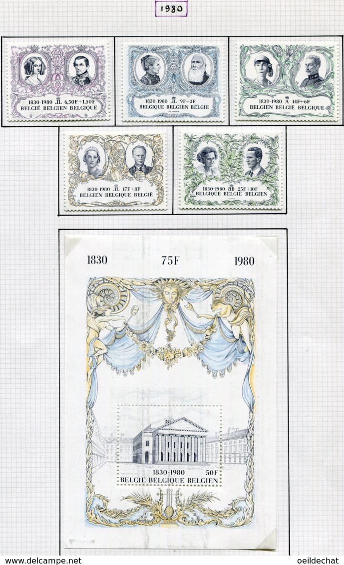 13782 BELGIQUE Collection Vendue Par Page N° 1978/83  **   1980  TB/TTB - Belgium