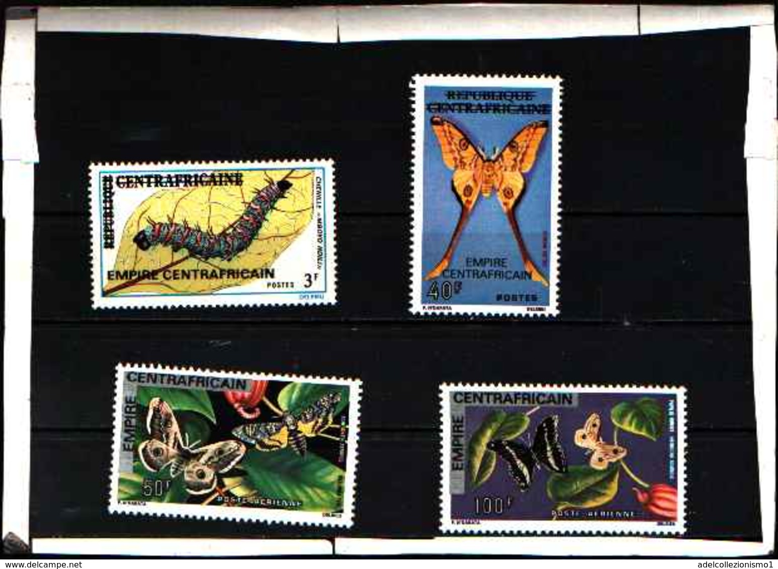 5907BIS ) CENTRAFRICAINE CENTRAFRICANA 1976 FARFALLE 4 VAL -MNH** - Repubblica Centroafricana