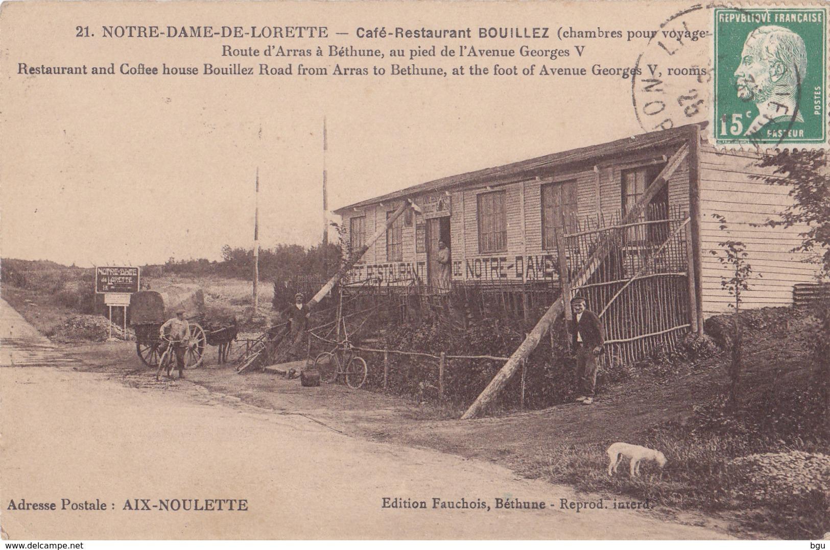 Notre Dame De Lorette (62) - Café Restaurant Bouillez - France