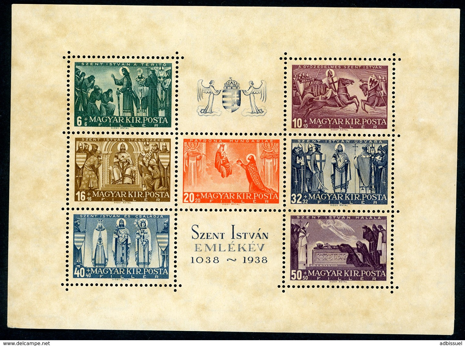 1938 Hungary / Magyar / Hongrie.  Block BF N° 4 / ** MNH / Catalog Price (cote) 72 € - Blocchi & Foglietti